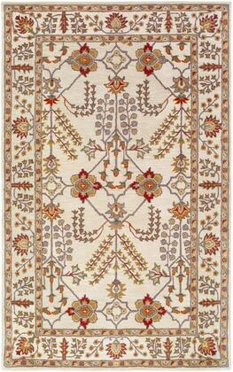 AWMD2243-58 5' x 8' Rug  in Dark Red and Camel and Khaki and Wheat and Olive and Taupe and Medium Gray and