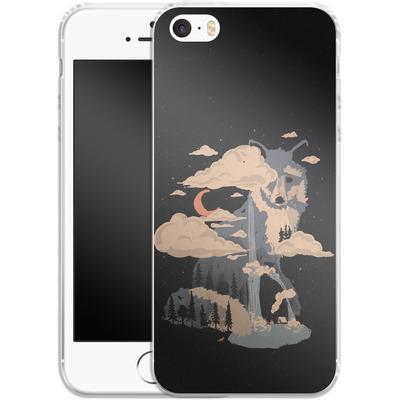 Apple iPhone 5s Silikon Handyhuelle - At the foot of fox mountain von ND Tank