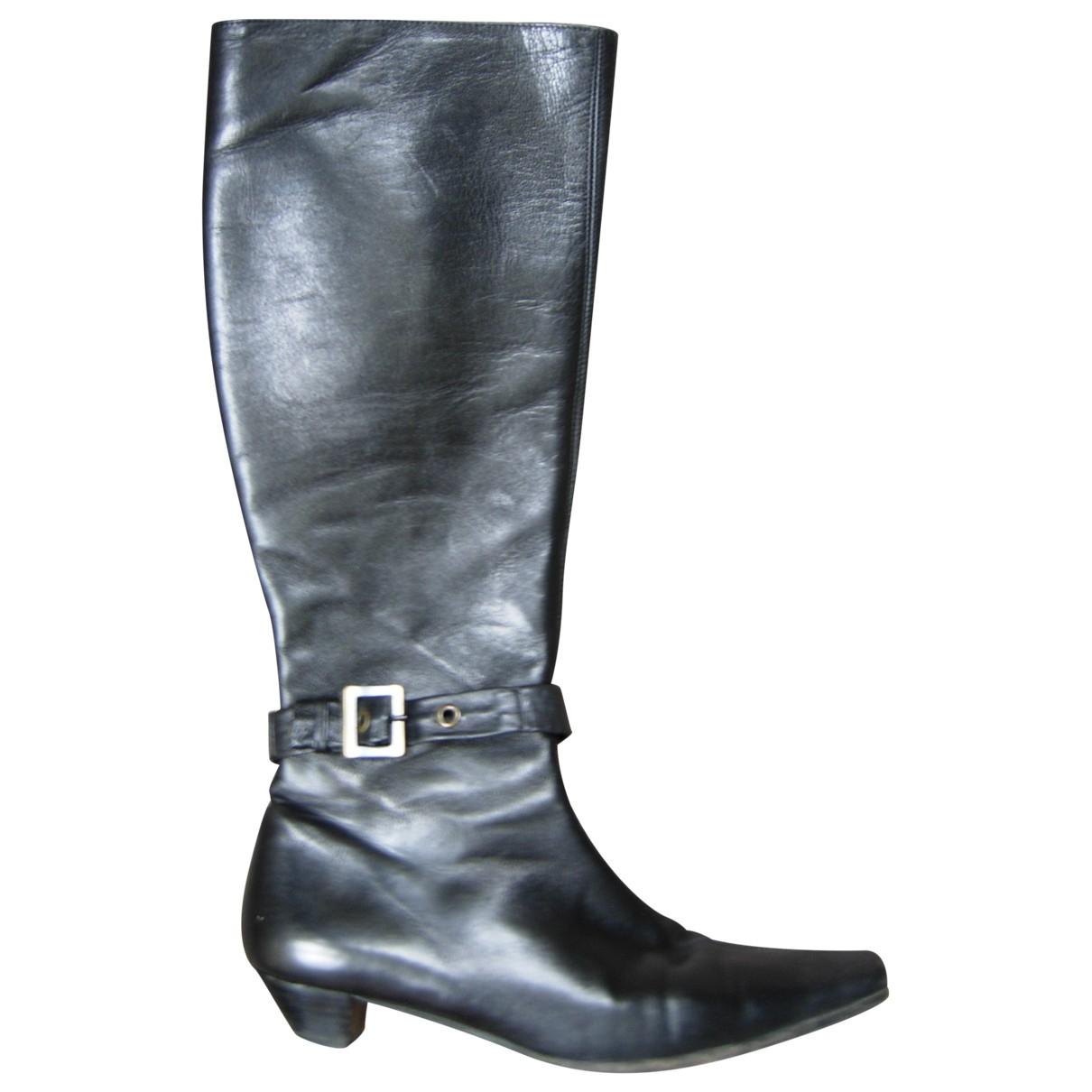 Paule Ka - Bottes   pour femme en cuir - noir