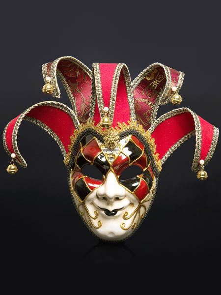 Milanoo Disfraz Halloween Mascara Disfraz de Halloween Campana Bloque de color Joker Cara Disfraz de disfraces Accesorios Carnaval Halloween