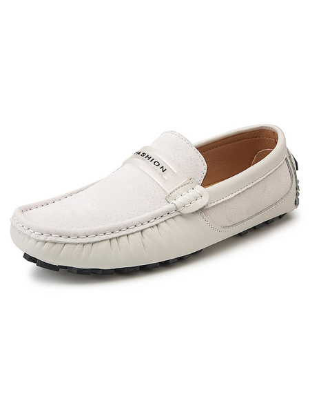 Milanoo Mens Penny Loafers Moccasin Slip-On Driving Shoes