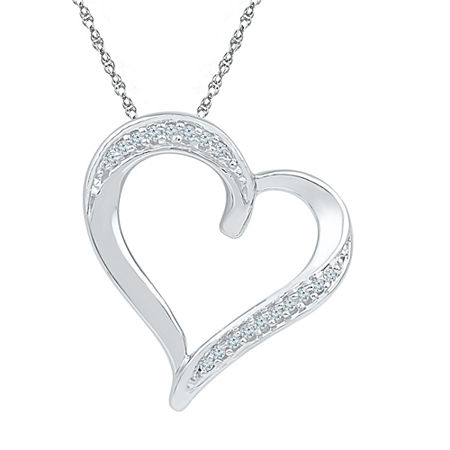 Womens 18 Inch Diamond Accent White Diamond 10K Gold Link Necklace, One Size , No Color Family