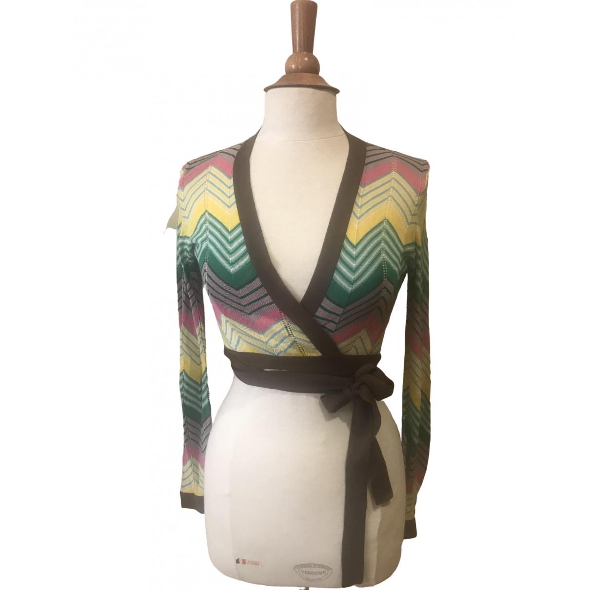 Bcbg Max Azria - Top   pour femme en soie - multicolore