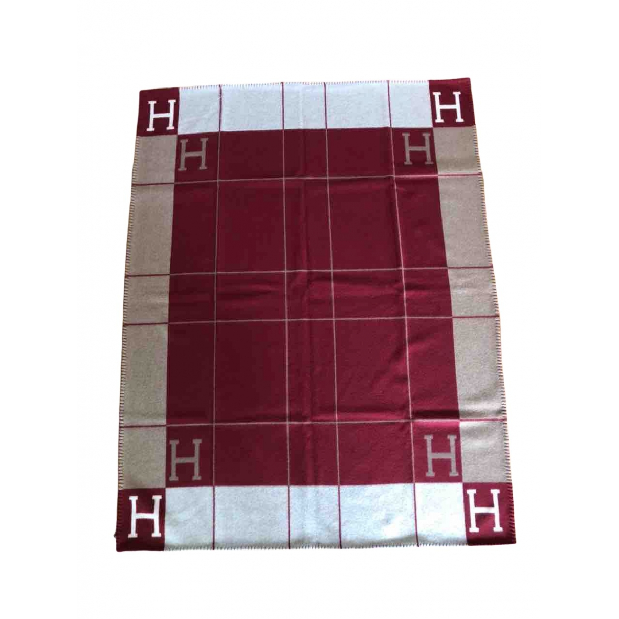Hermes Avalon Heimtextilien in  Rot Wolle