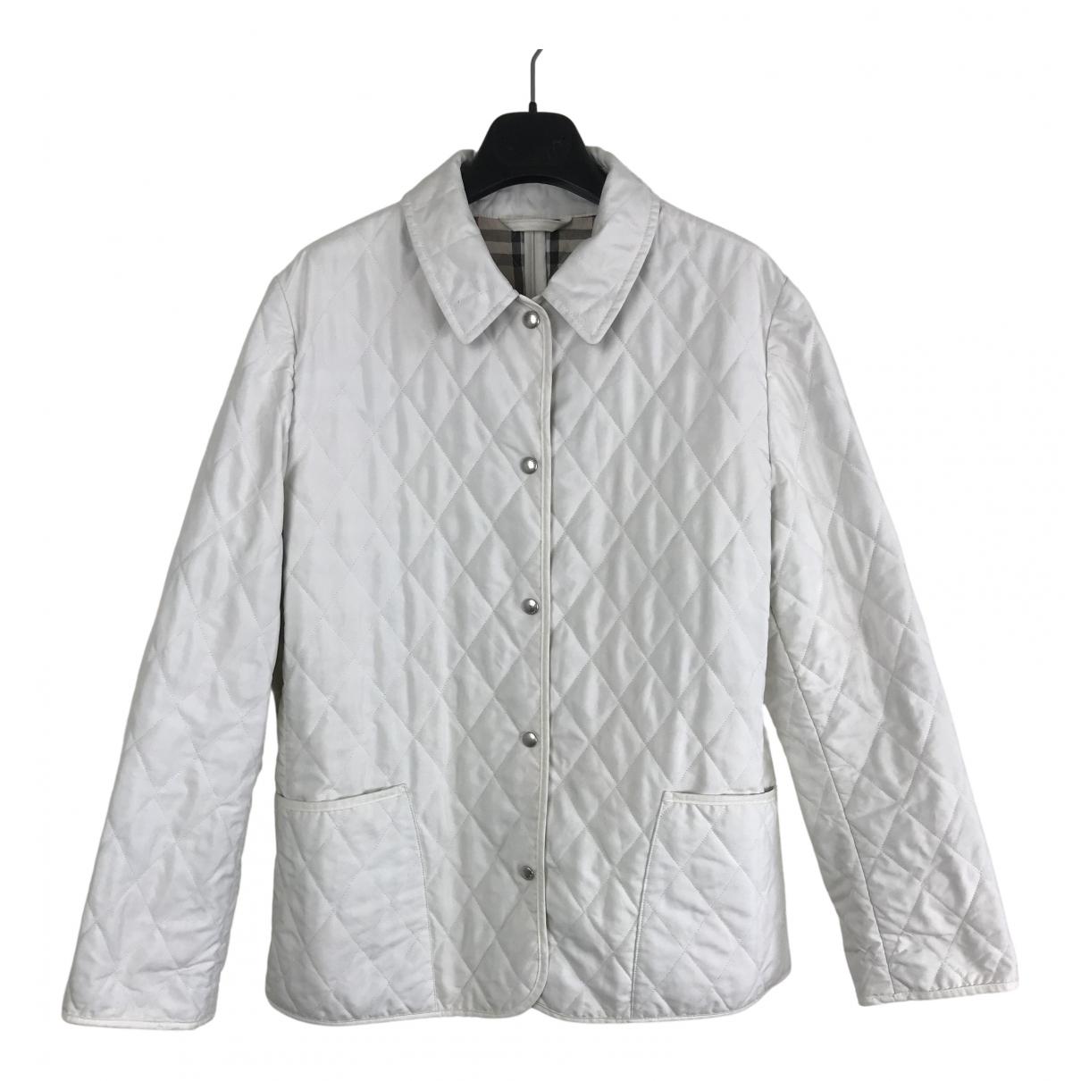 Burberry - Veste   pour femme en coton - blanc