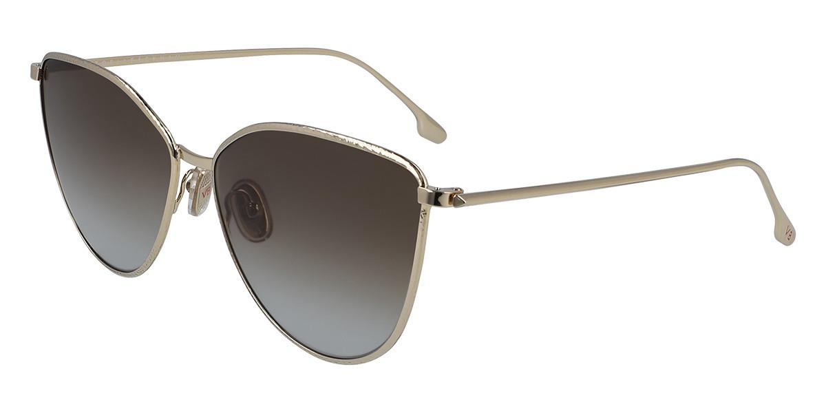 Victoria Beckham VB209S 702 Women's Sunglasses Gold Size 59