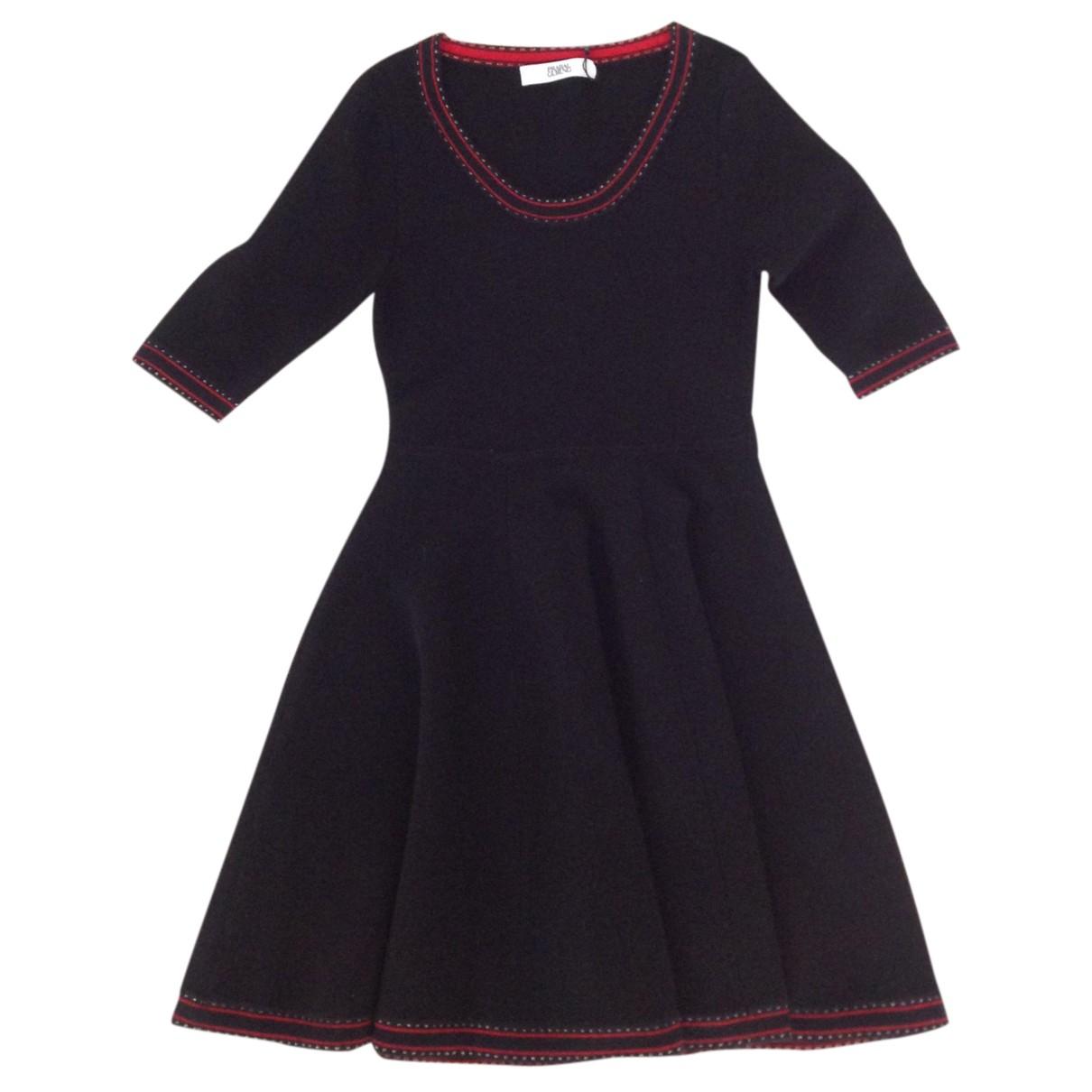 Prabal Gurung \N Kleid in  Schwarz Wolle
