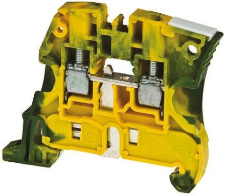 Entrelec ATEX, ZS16, 1 kV ac Standard Din Rail Terminal, Screw Clamp Termination, Green/Yellow (5)