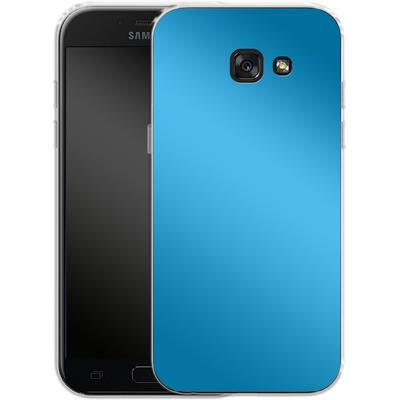 Samsung Galaxy A5 (2017) Silikon Handyhuelle - Test Cyan von caseable Designs