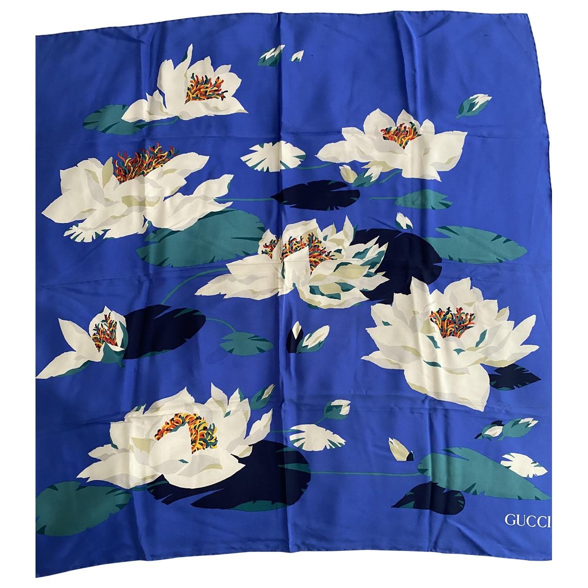 Gucci \N Blue Silk Silk handkerchief for Women \N