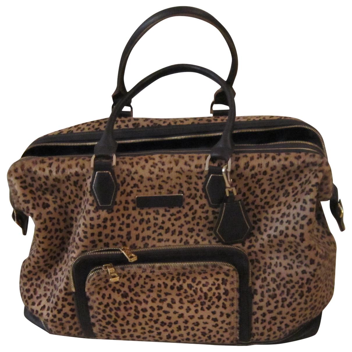 Longchamp Légende Brown Pony-style calfskin Travel bag for Women \N