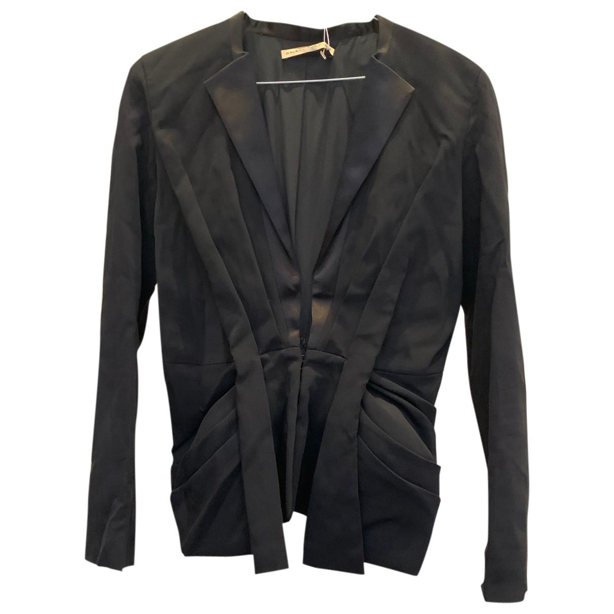 Balenciaga \N Jacke in  Schwarz Baumwolle