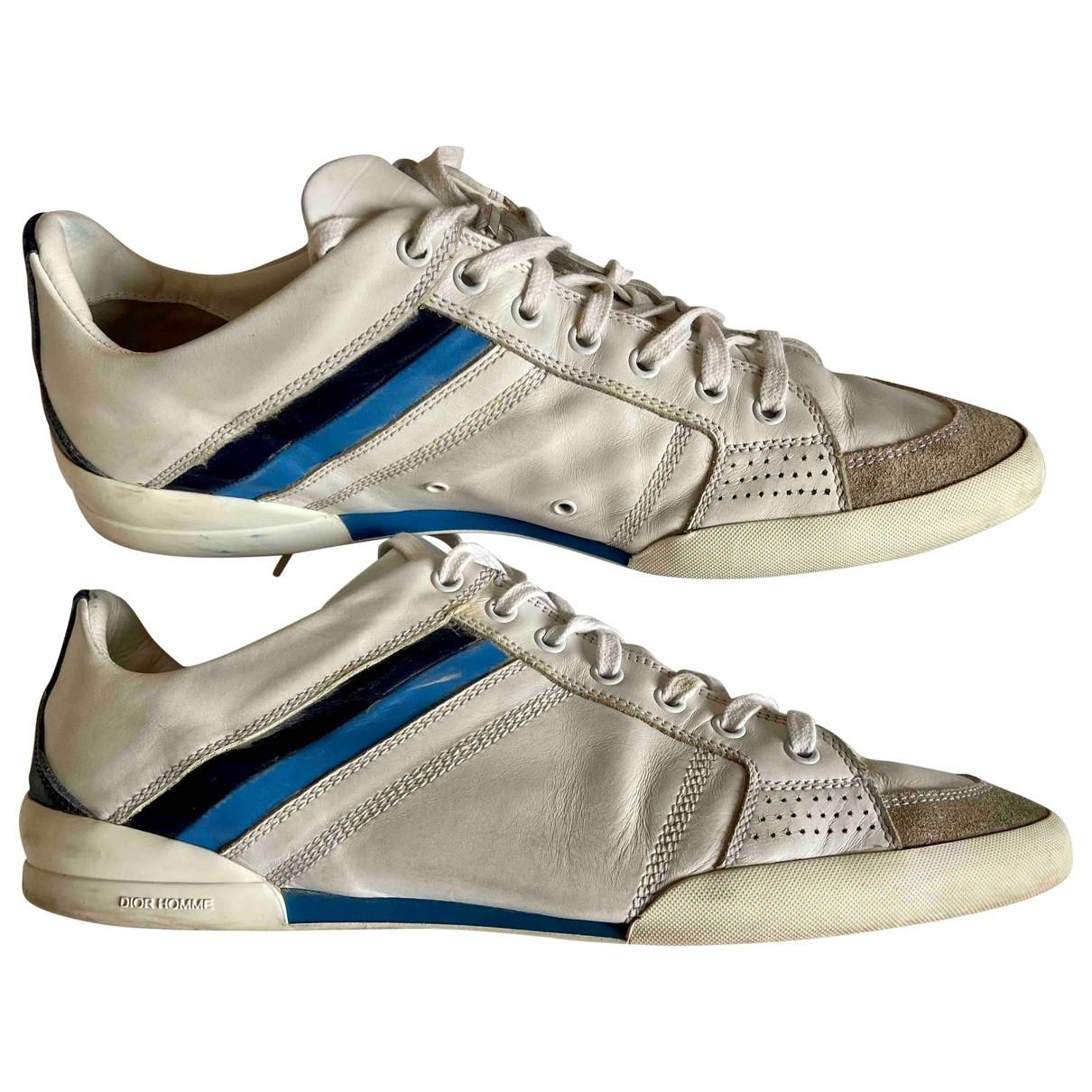Dior Homme - Baskets B18 pour homme en cuir - blanc