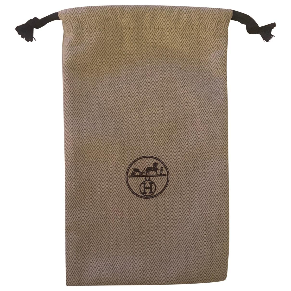 Hermes - Petite maroquinerie   pour femme en coton - beige