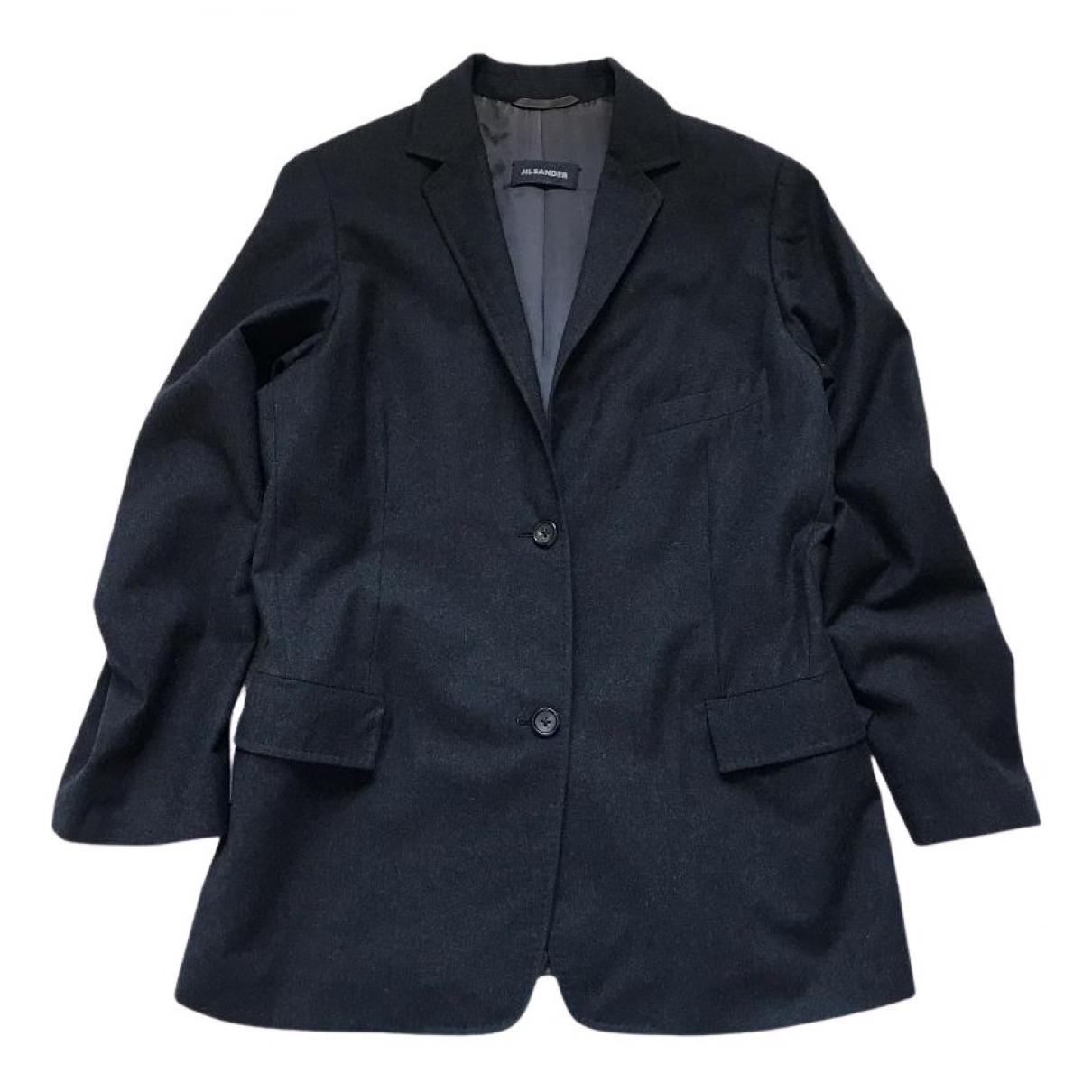 Jil Sander \N Anthracite Wool jacket for Women M International