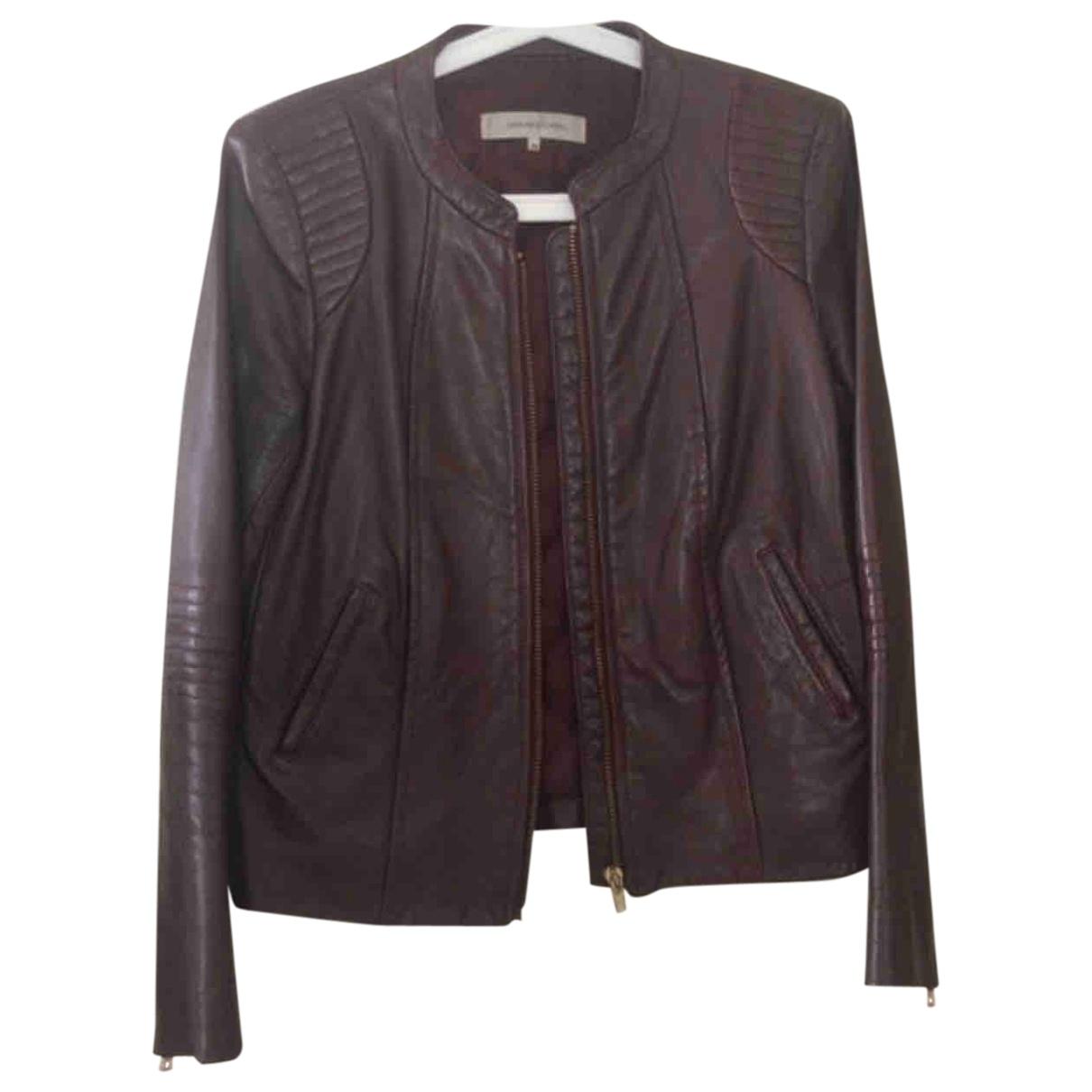 Gerard Darel \N Burgundy Leather Leather jacket for Women 38 FR