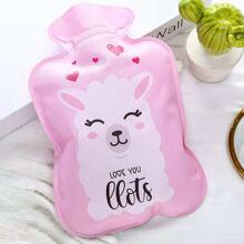 Cartoon Alpaca Print Hot Water Bag