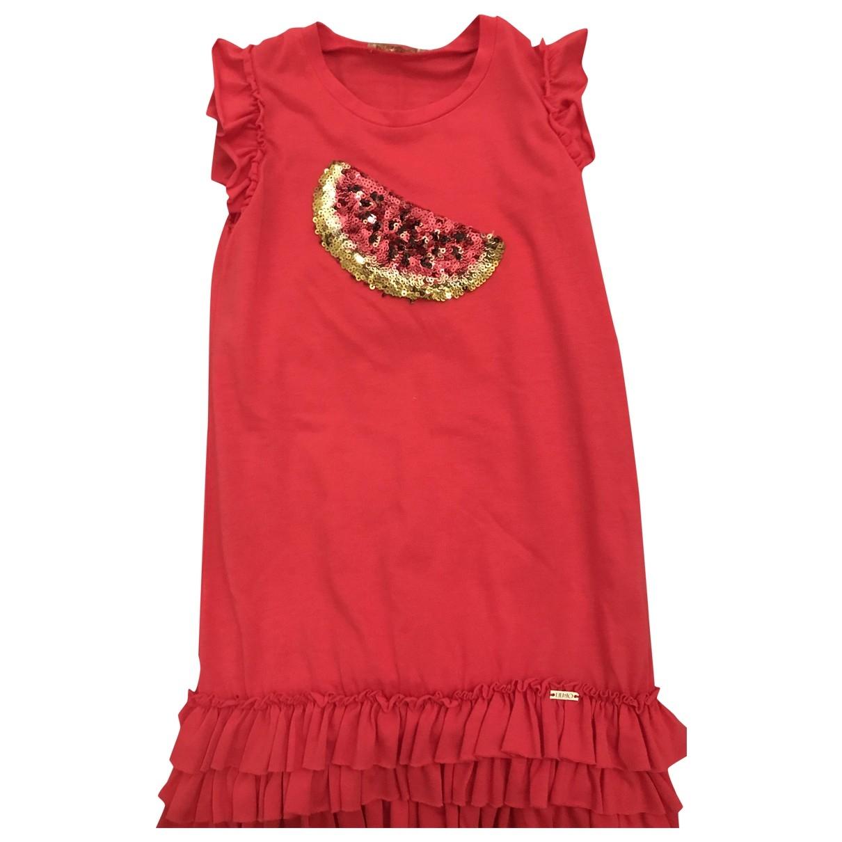 Liu.jo - Robe    pour enfant en coton - rose