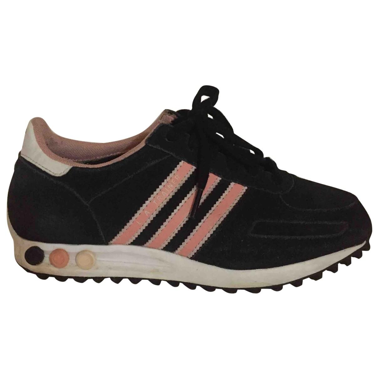 Adidas \N Black Suede Trainers for Women 37.5 EU