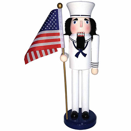 Hand Painted Christmas Nutcracker, One Size , White