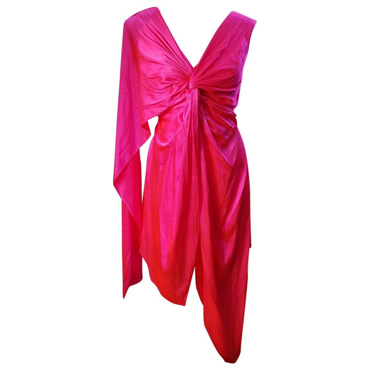 Sies Marjan \N Kleid in  Rot Seide