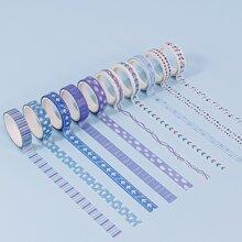 10 Rollen zufaelliges Dekorband mit gemischtem Muster
