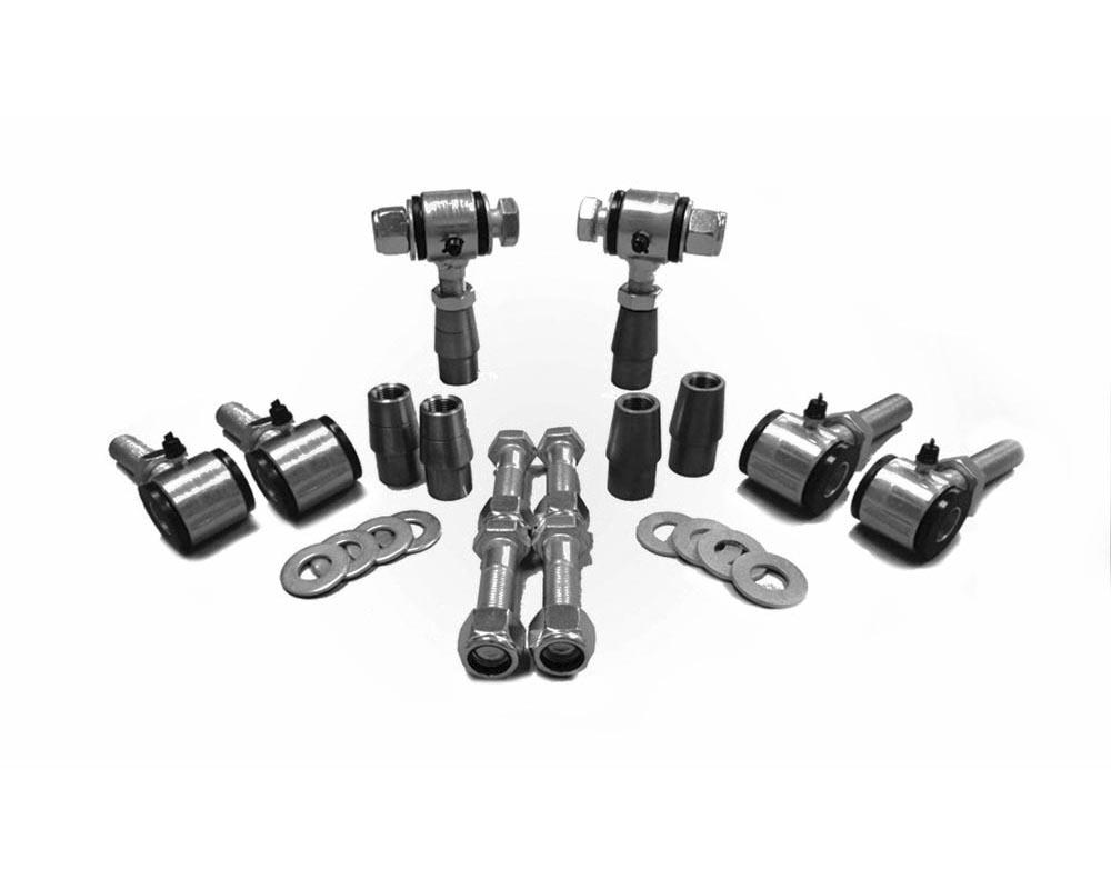 Steinjager J0011529 3/4-16 RH LH Poly Bushings Kits, Male 9/16 Bore x 1.50 Wide fits 1.250 x 0.120 Tubing Zinc Plated Bush Housing Six Poly Ends Per K