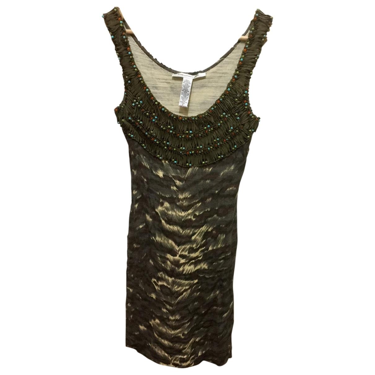 Diane Von Furstenberg \N Kleid in  Bunt Baumwolle