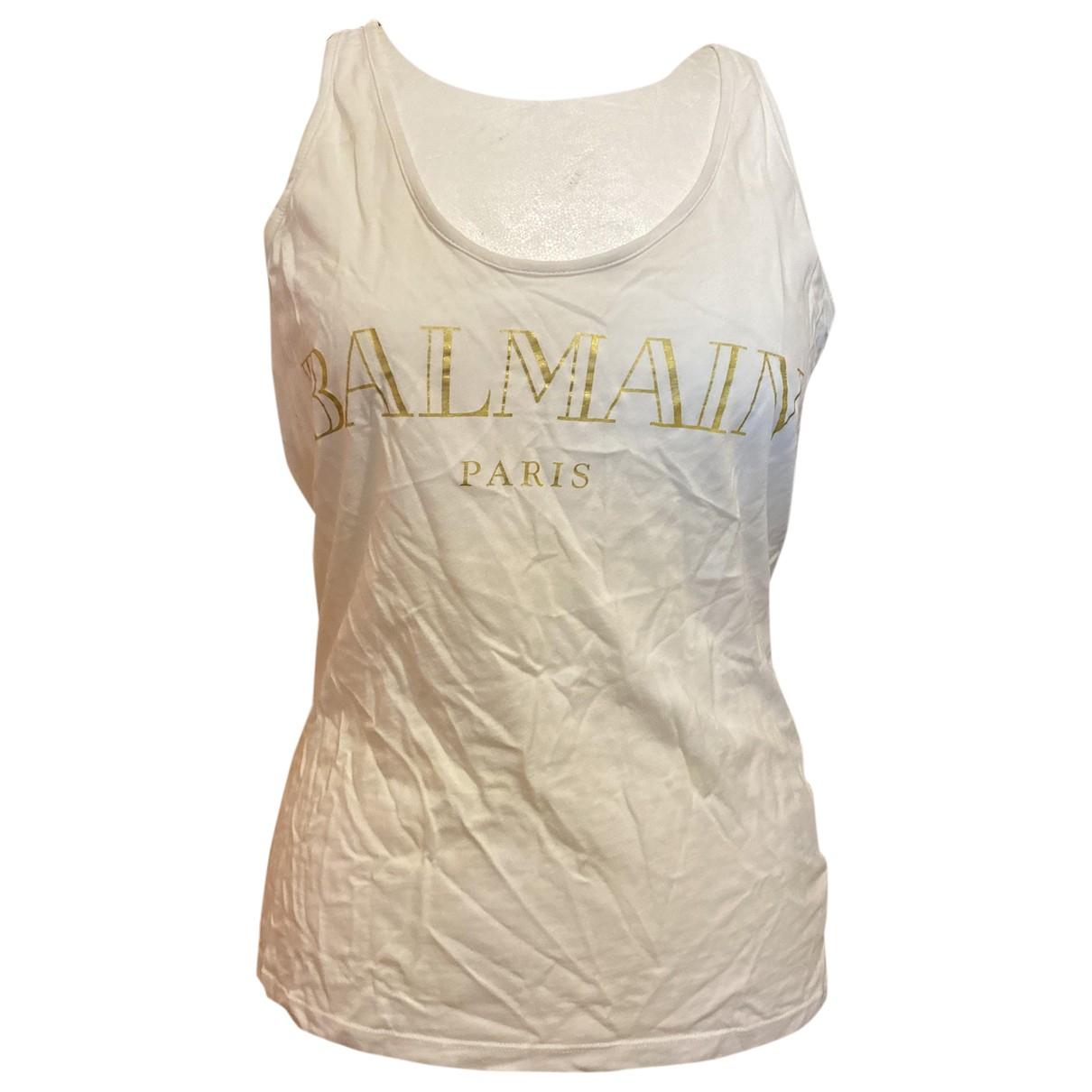 Balmain \N White Cotton  top for Women 34 FR