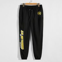 Guys Letter Graphic Joggers