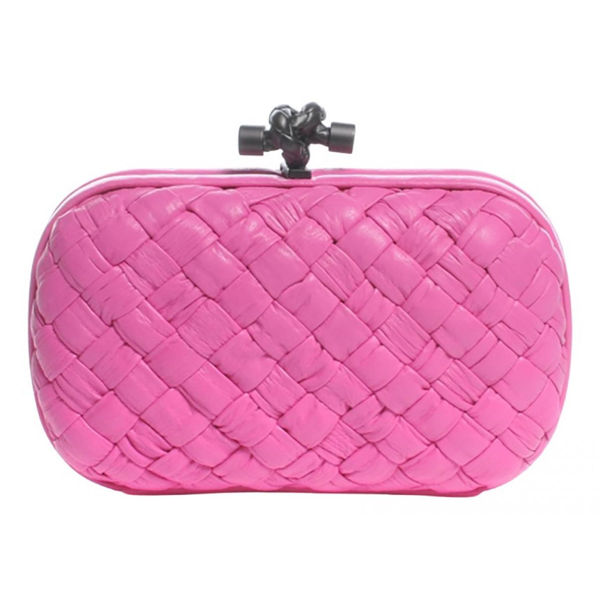Bottega Veneta - Pochette Pochette Knot pour femme en cuir - rose
