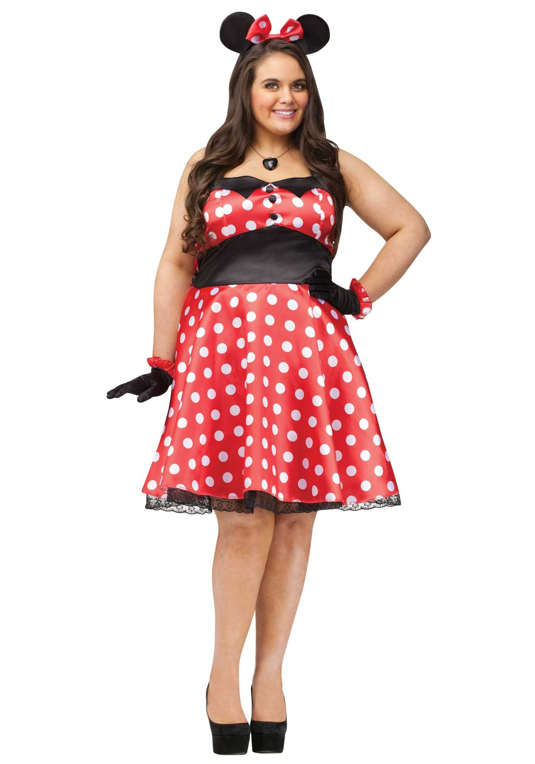 Plus Size Retro Miss Mouse Costume for Women | Classic Halloween Costume
