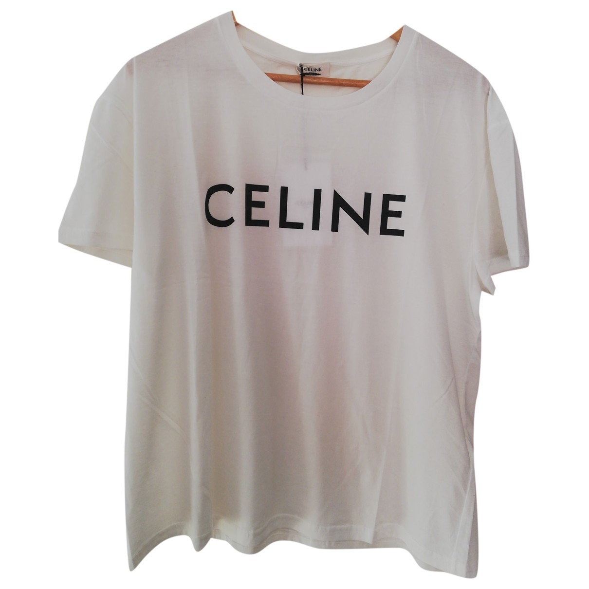 Celine \N White Cotton T-shirts for Men XL International