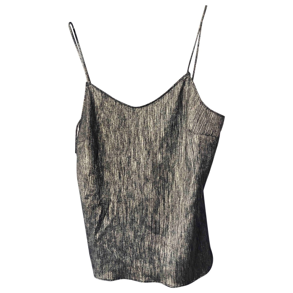 Non Signe / Unsigned \N Top in  Metallic Polyester