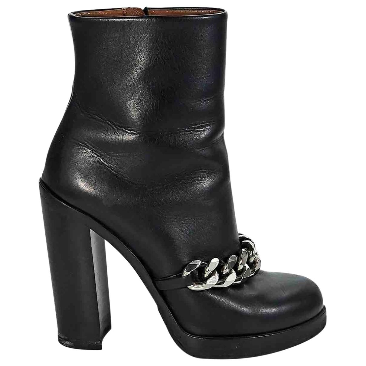 Botas moteras de Cuero Givenchy