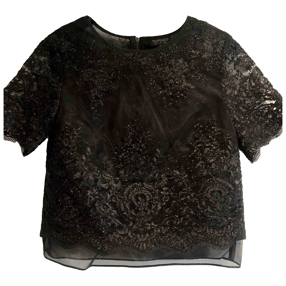 tophop \N Black Lace  top for Women 4 US