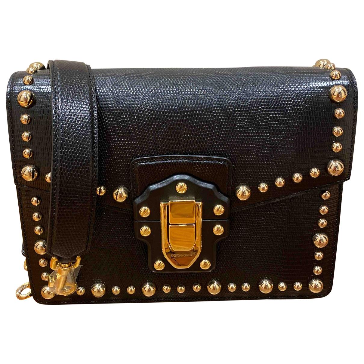 Dolce & Gabbana Lucia Handtasche in  Schwarz Leder