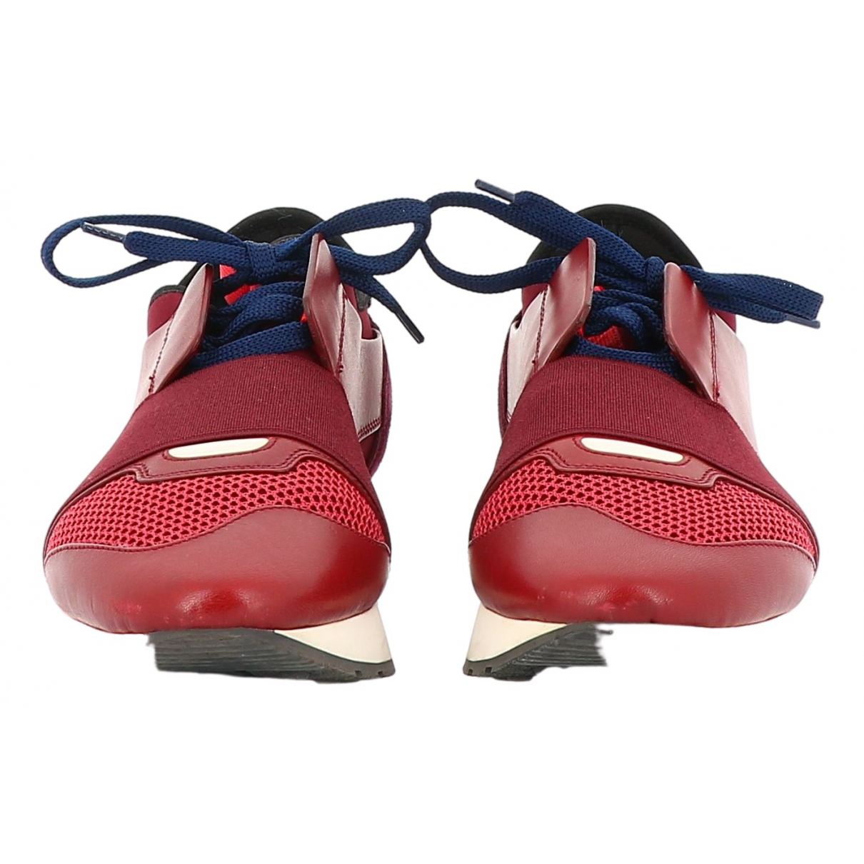 Balenciaga \N Red Leather Trainers for Women 38 EU