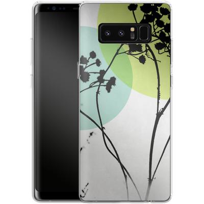Samsung Galaxy Note 8 Silikon Handyhuelle - Abstract Flowers 2 von Mareike Bohmer