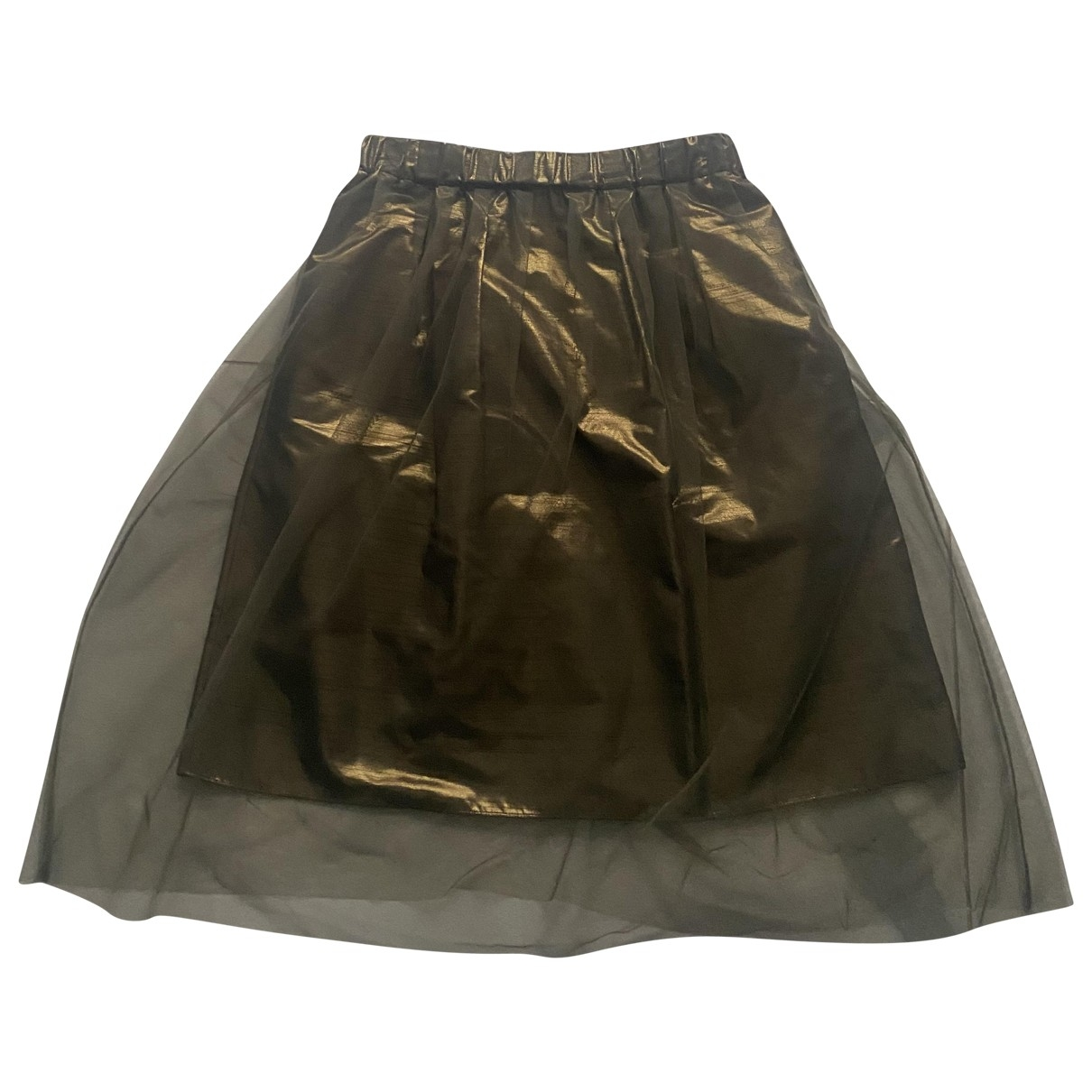 Brunello Cucinelli \N Gold skirt for Women 42 IT