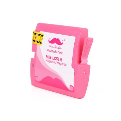 Compatible Brother LC51M - LC51 magenta cartouche d'encre de Moustache, 2 paquet