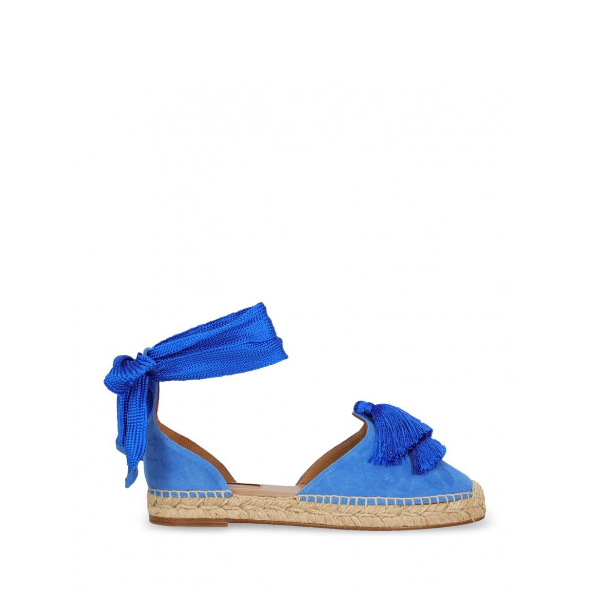 Aquazzura - Espadrilles   pour femme en suede - bleu