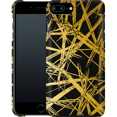 Apple iPhone 8 Plus Smartphone Huelle - Strokes Gold Black von Khristian Howell
