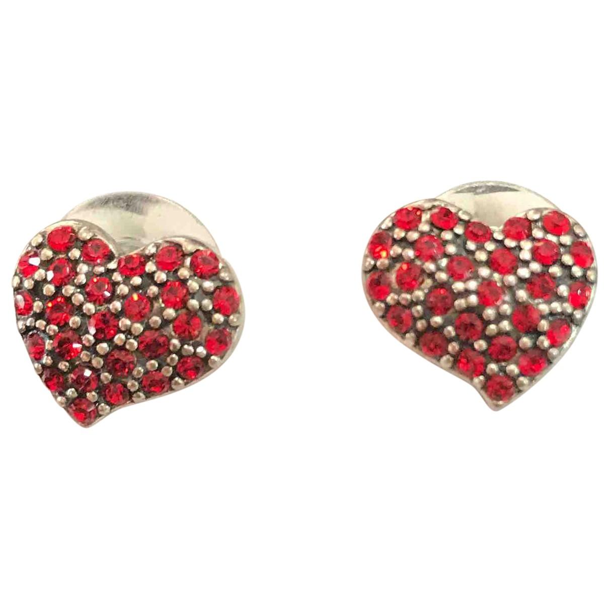 Swarovski - Boucles doreilles   pour femme en metal - rouge