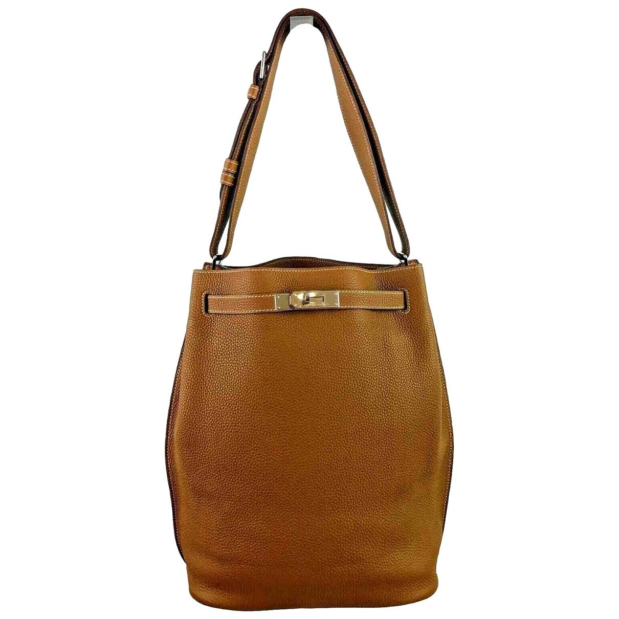 Hermès So Kelly Gold Leather handbag for Women \N