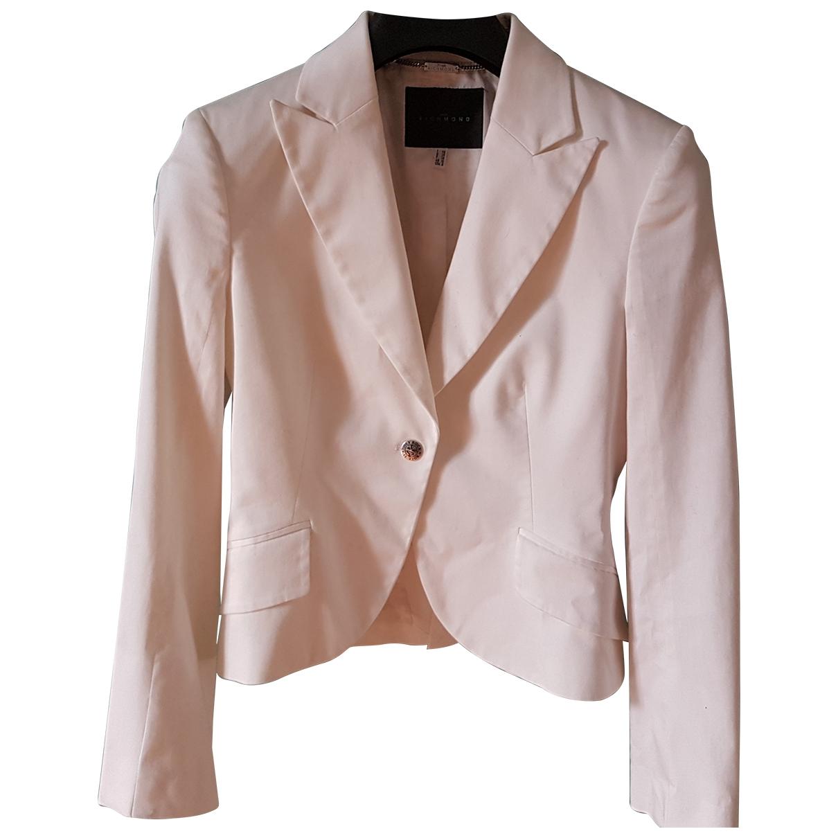 John Richmond - Veste   pour femme en coton - blanc