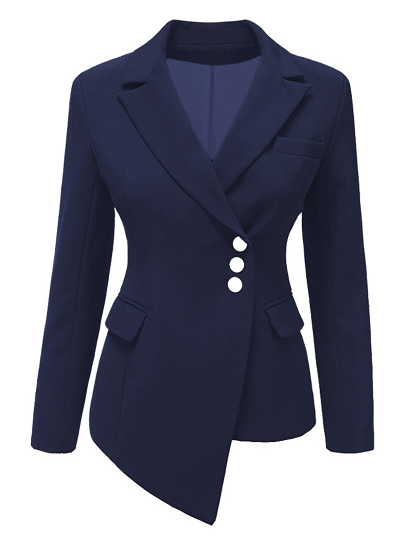 Ericdress Plain Lapel Asymmetric Blazer
