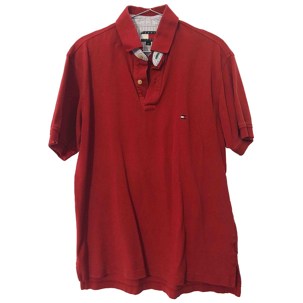 Tommy Hilfiger - Polos   pour homme en coton - rouge