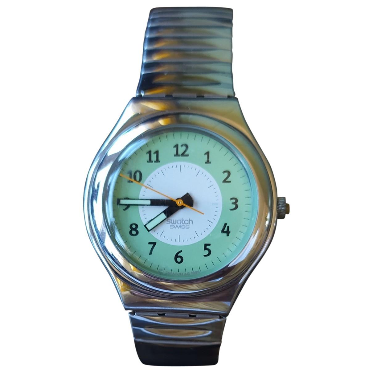 Swatch - Montre   pour femme en acier - metallise