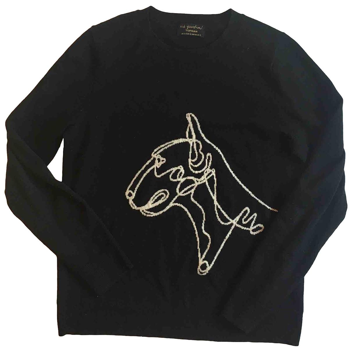 Topman \N Pullover.Westen.Sweatshirts  in  Schwarz Baumwolle